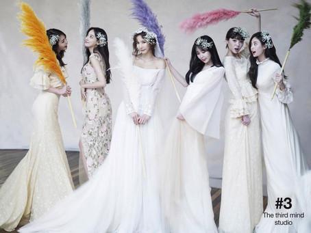 韓國女團 #AfterSchool 閨蜜婚紗照 x #RosaSposa 韓國手工婚紗