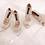 Thumbnail: Elsa水晶閃耀高跟鞋・RS191001 (Ivory)