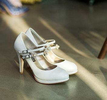 Ellen高跟婚鞋・RS171222(Ivory)