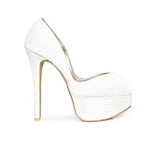 VI蕾絲高跟婚鞋・GS150103(Ivory)
