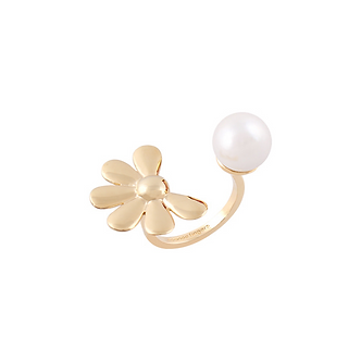 Golden Flower Pearl Ring・GF01101