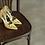 Thumbnail: Rosie 鏤空薔薇皮革宴會鞋・RS160426(Yellow)