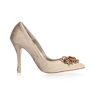 Angelina天鵝絨宴會鞋・RS161004(Beige)