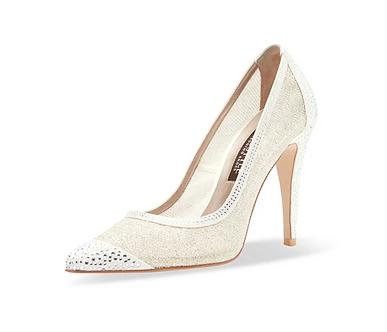 Elsa水晶閃耀高跟鞋・RS191001 (Ivory)