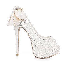 Meg高級蕾絲婚鞋・RS150415(Ivory)
