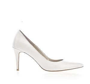 POPI 2nd珍珠白皮革婚鞋・GS131203