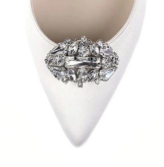 優雅閃亮橢圓形鑽飾・IA171211 (Silver)