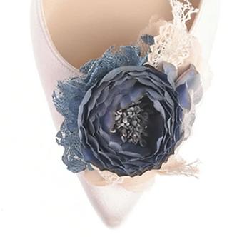第二代古典浪漫玫瑰花飾・IA160913(Blue)
