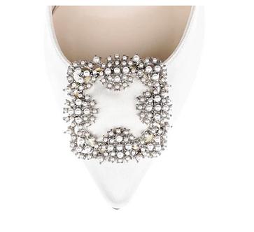 馬諾洛珍珠綢緞鞋飾二代・IA160322(Silver)