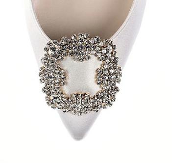 馬諾洛鑲鑽綢緞鞋飾・IA141120(Gold)