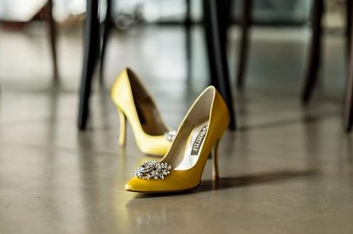 Jolie施華洛世奇奢華宴會鞋・RS180518(Yellow)