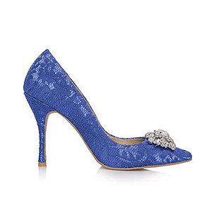Sophie蕾絲尖頭宴會鞋・RS151208(Blue)
