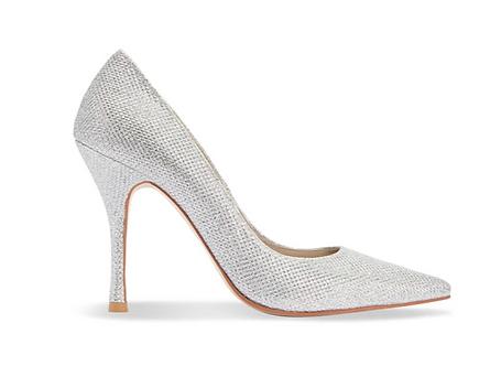 閃耀銀派對尖頭高跟鞋・GS161104 (Silver)
