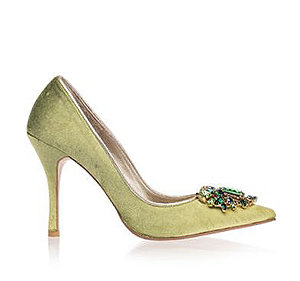 Angelina天鵝絨宴會鞋・RS161004(Green)