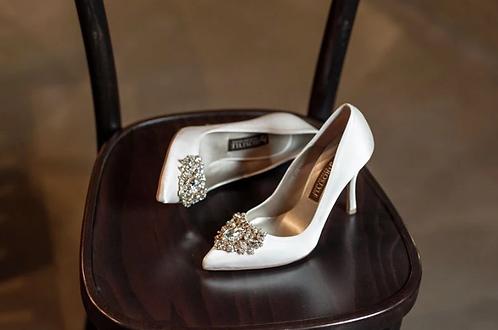Jolie施華洛世奇奢華宴會鞋・RS180518(Ivory)