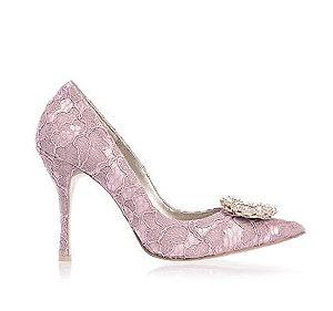 Rooney蕾絲高跟婚鞋・RS170113(Pink)