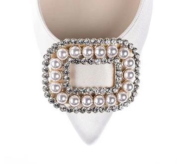 經典款珍珠鑽飾・IA180225(Ivory satin)