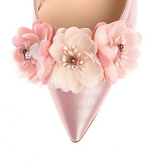 立體多彩仿珠花飾・IA170120(Pink)
