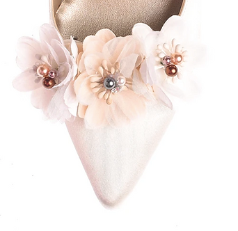 立體多彩仿珠花飾・IA170120(Beige)