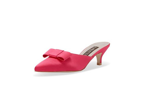 Shallot 緞面高級穆勒跟鞋・RS190715(Pink)
