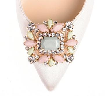 Iro經典復古風情方鑽飾品・IA160111(Pink acrylic)