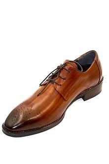 Walentines 韓國手工木紋棕色紳士皮鞋・ B 5070