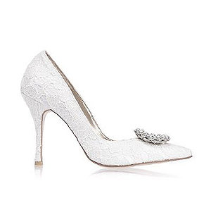 Rooney蕾絲高跟婚鞋・RS170113(Ivory)