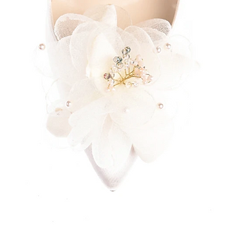 浪漫雪紡透紗花飾・IA170115(Ivory)