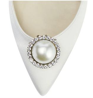 大珍珠水鑽鞋飾・IA190212 (Silver)
