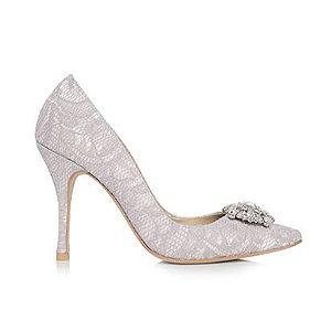 Sophie蕾絲尖頭宴會鞋・RS151208(Gray)