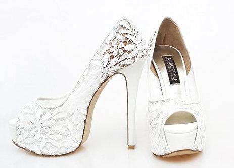 Elly雛菊蕾絲婚鞋・GS130720