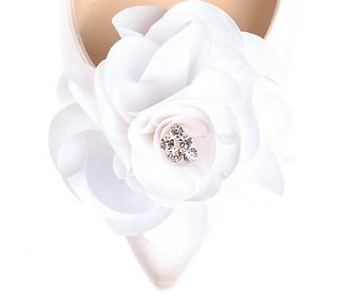 時尚點鑽棉緞花飾・IA121022(Ivory)