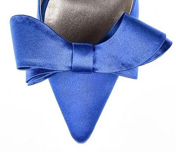 立體綢緞蝴蝶結・IA121021(Blue)