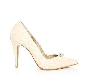 Dianna蕾絲宴會鞋・RS160812 (Ivory)