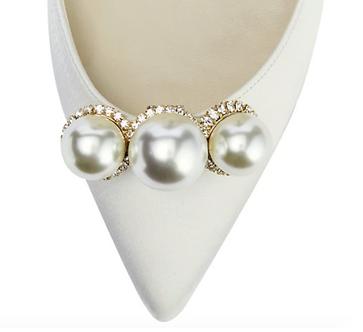 閃耀三珍珠鞋飾・IA190221 (Gold)