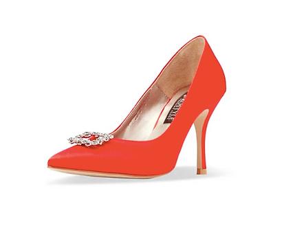 Frida 真絲施華洛世奇方鑽高跟鞋・RS190801(Red)