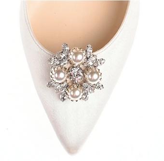 菱形珍珠復古鑽飾・IA160910(Silver)