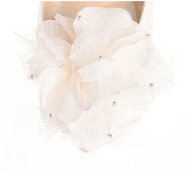 優雅珍珠綴點花飾・IA160118(Ivory)