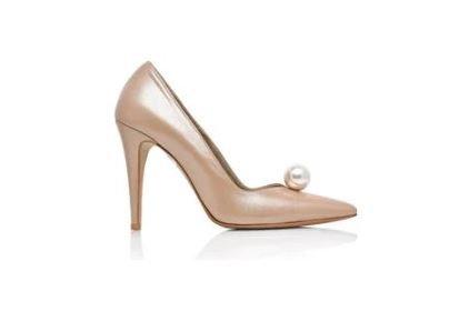 Melanie 優雅率性皮革珍珠宴會鞋・RS160319(Beige)