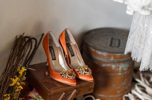 Jolie施華洛世奇奢華宴會鞋・RS180518(Orange)