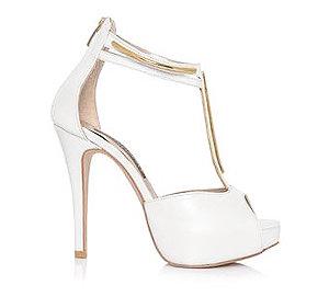 Lindsay珠光皮革T型婚鞋・RS150301(Ivory)