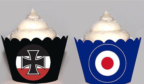 WW1 Fighter Planes Cupcake Wrappers