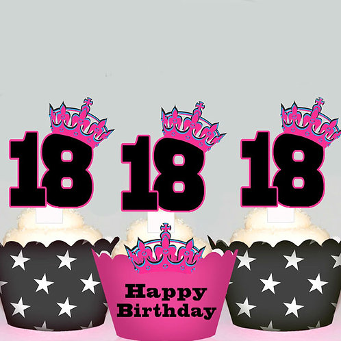 18th Birthday Toppers