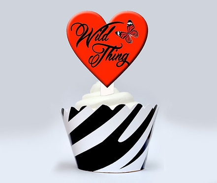 Wild Thing Party Toppers