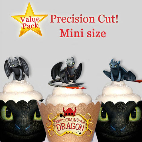 42 Mini Toothless Dragon Toppers