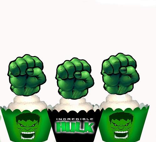 Incredible Hulk Emblem Toppers