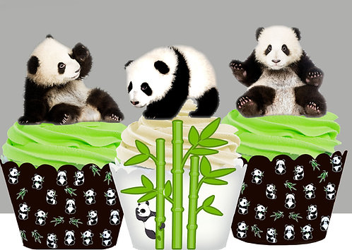 Panda Bear Party Toppers