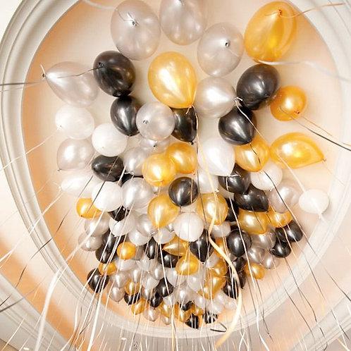 Gold, Silver Balloons