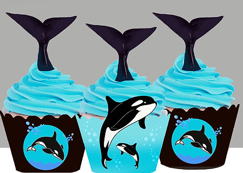 Killer Whale Party Toppers