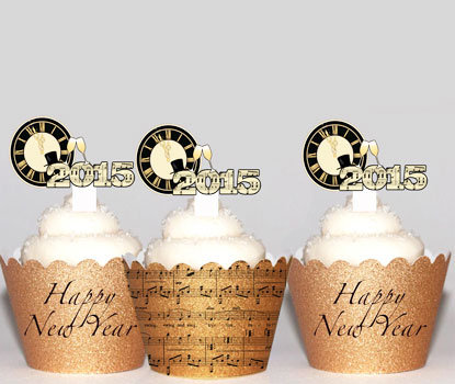 Music New Years Eve Party Toppers